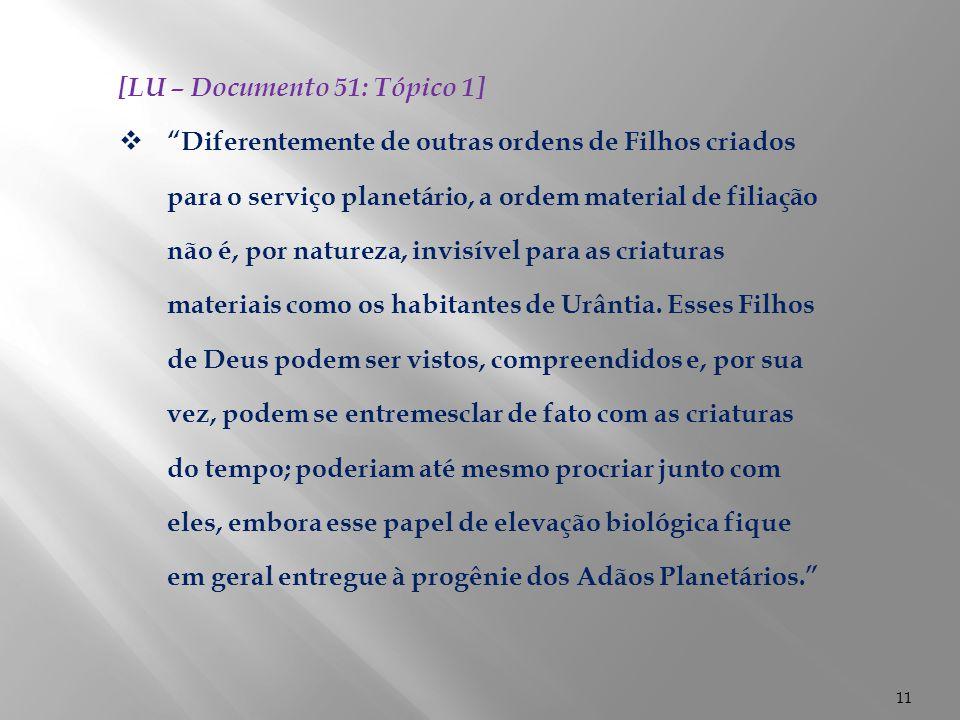 [LU – Documento 51: Tópico 1]